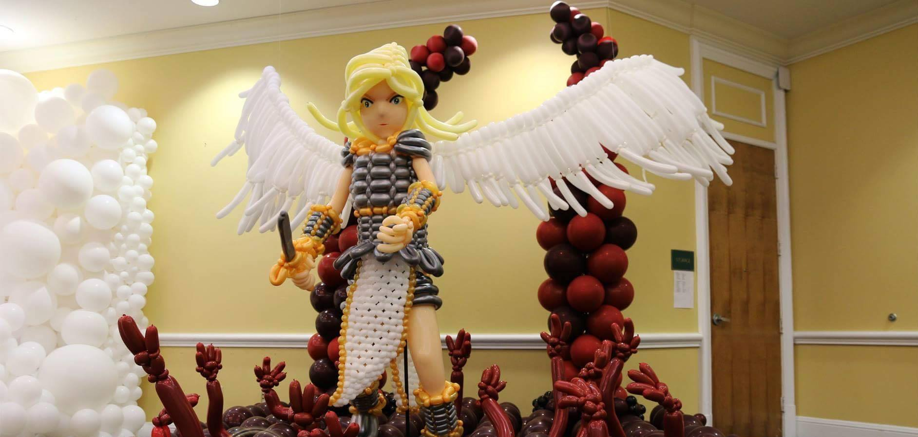 Large sculpture balloon creation by Twisted Inflations